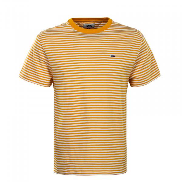 Herren T-Shirt 5515 Yellow White Stripe