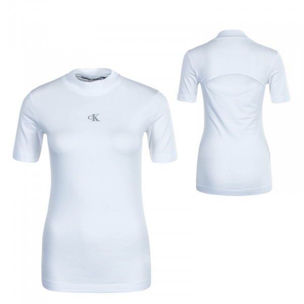 Damen T-Shirt Raised Silver Bright White