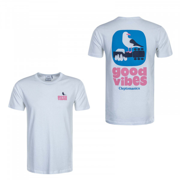Herren T-Shirt Good Vibes White
