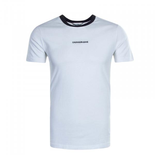 Herren T-Shirt Ringer White