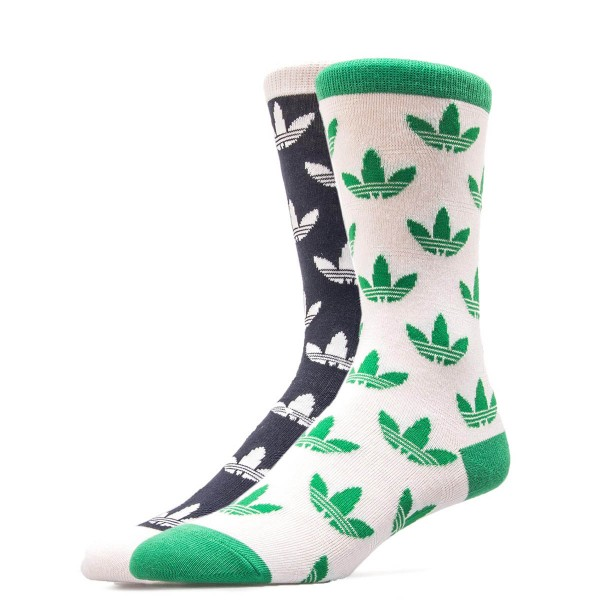 Adidas Socks T Crew 2er Pack Green Black