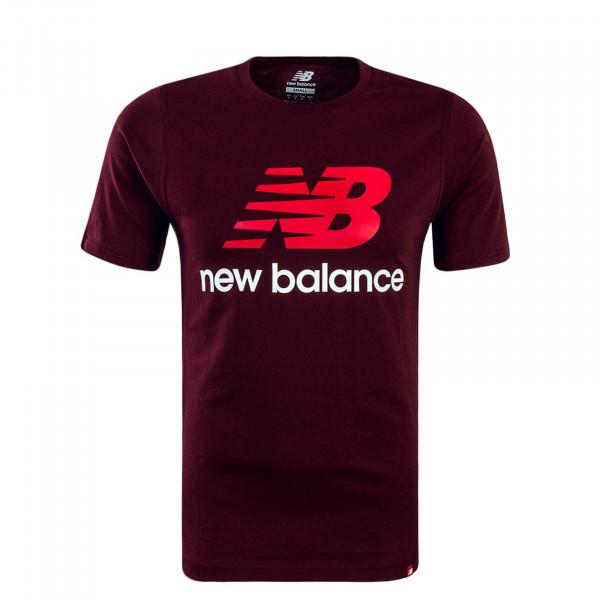 Herren T-Shirt MT83530 Bordeaux White