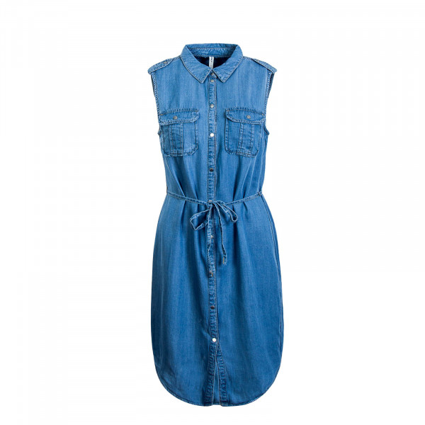 Damen Dress Claire Denim Light Blue