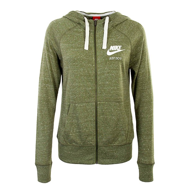 Nike Wmn Sweatjkt Gym Green