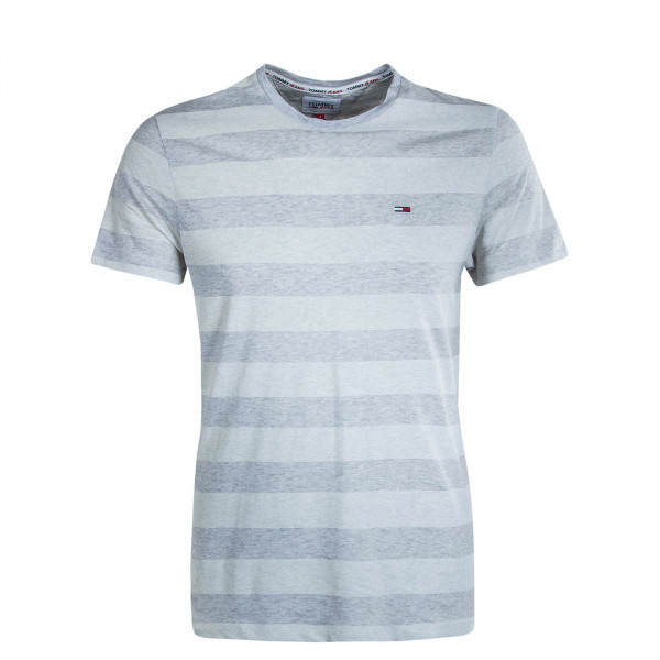 Herren T-Shirt TJM Heather Stripe  Grey White