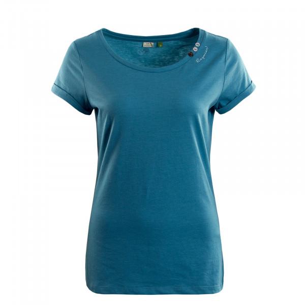 Damen T-Shirt  Florah A Organic Blue