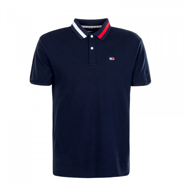 Herren Polo-Shirt TJM Flag Neck 6576 Navy