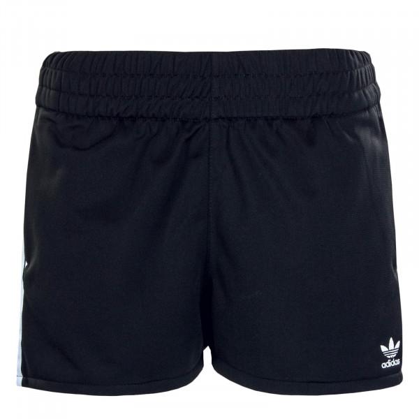 Damen Short 3-Stripes Black White