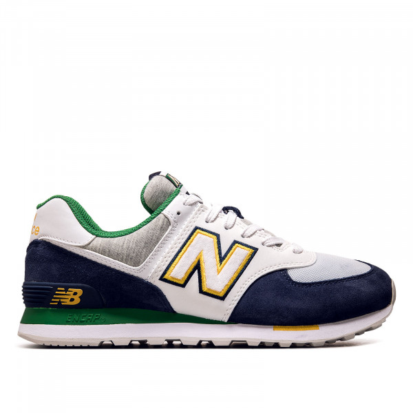 Herren Sneaker ML 574 NLB Navy White Grey Green Yellow