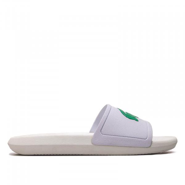 Herren Slide Croco White Green