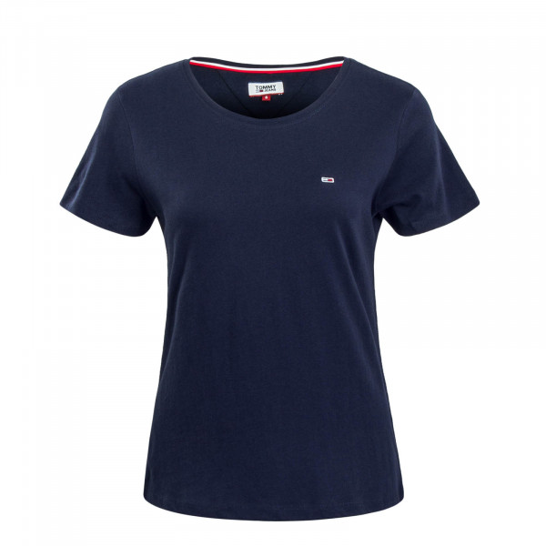 Damen T-Shirt Soft Jersey Navy