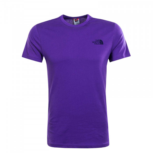 Herren T-Shirt Simple Dome Peak Purple