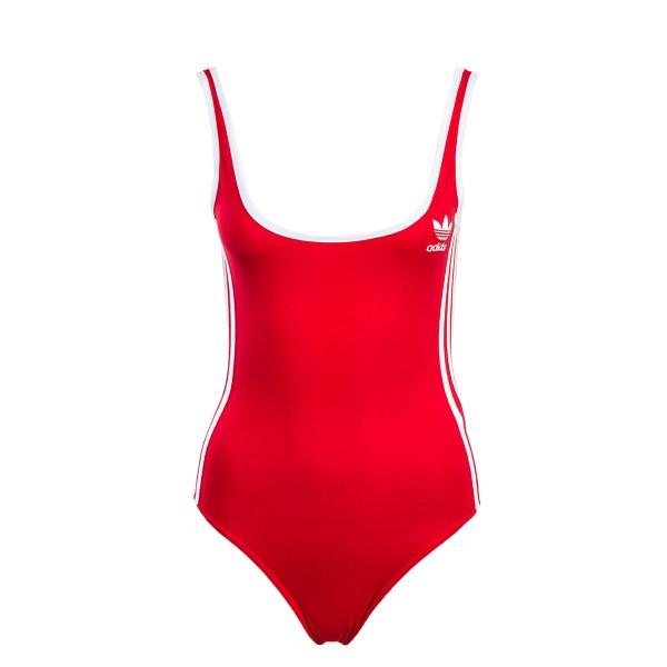 Adidas Wmn Swimsuit Body 3 Stripe Red