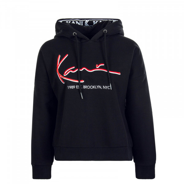 Damen Hoody Signat Tape Black Red