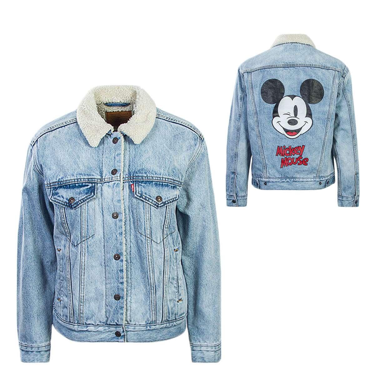 promo code d2fcf 9698d Levis JeansJkt Wmn EXBFSherpa Mickey Blu