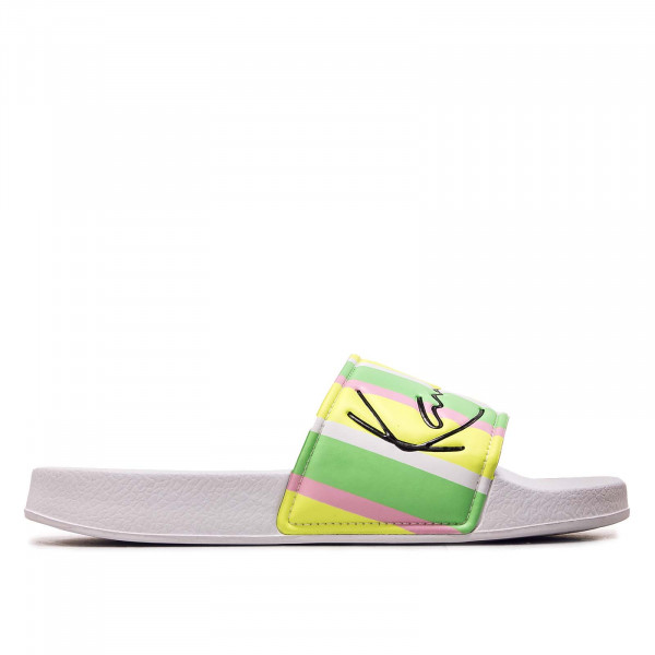 Damen Schlappe - Signature Stripe Pool Slides - Green