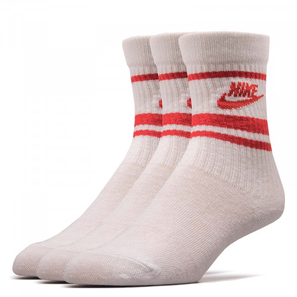 3er-Pack Socken Essential Stripe White Red