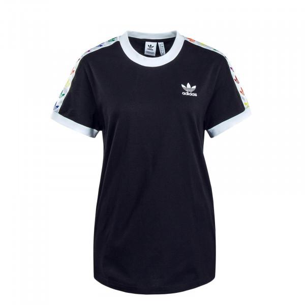 Damen T-Shirt Pride Black White