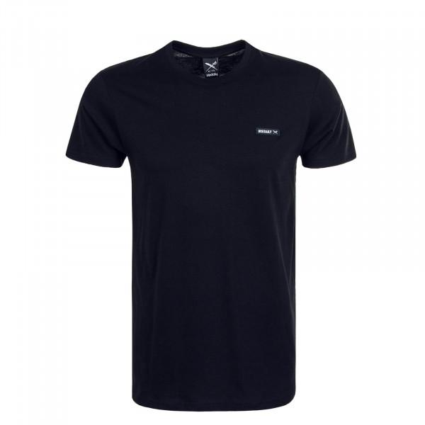 Herren T-Shirt Served Flag Black