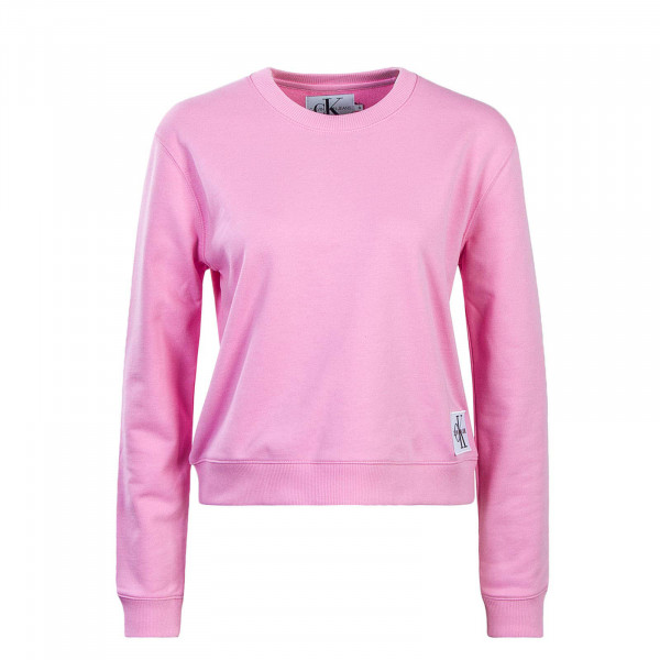 CK Wmn Sweat Boxy CN Monogram Rosa