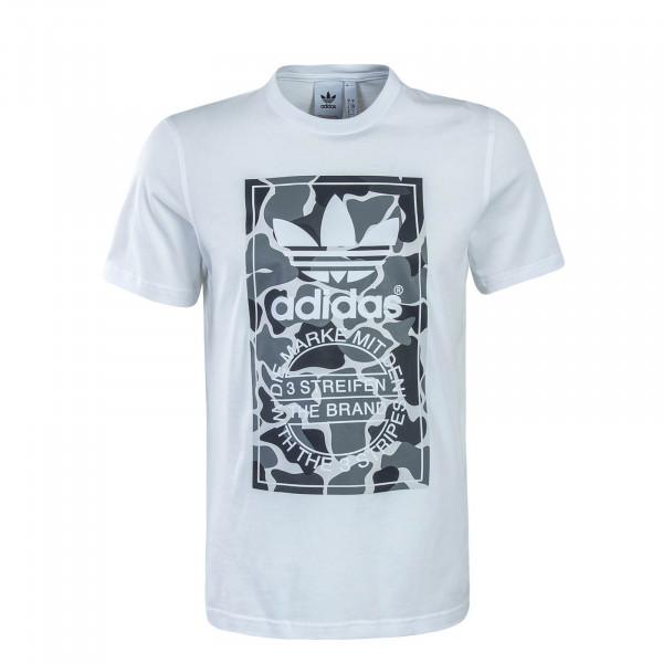 Herren T-Shirt Label White Camo