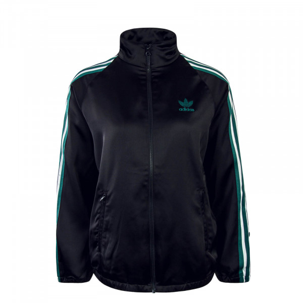 Damen Trainingsjacke Satin Black Green