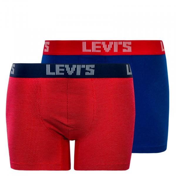 Levis Boxer 2Pk Optical ZigZag Red Blue