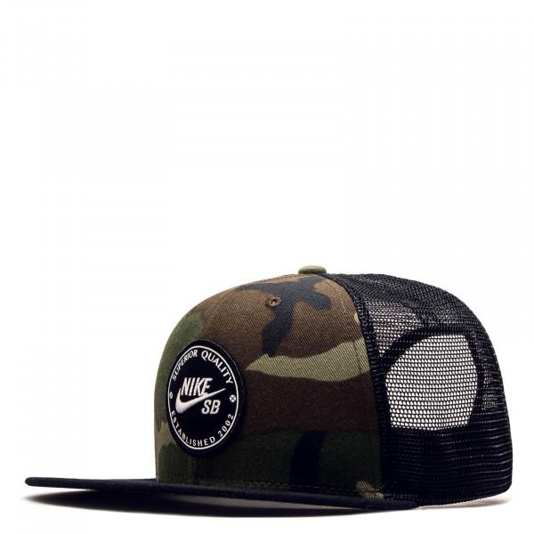 0b6fea2234a Nike SB Cap Pro Patch Trucker Blk Camo