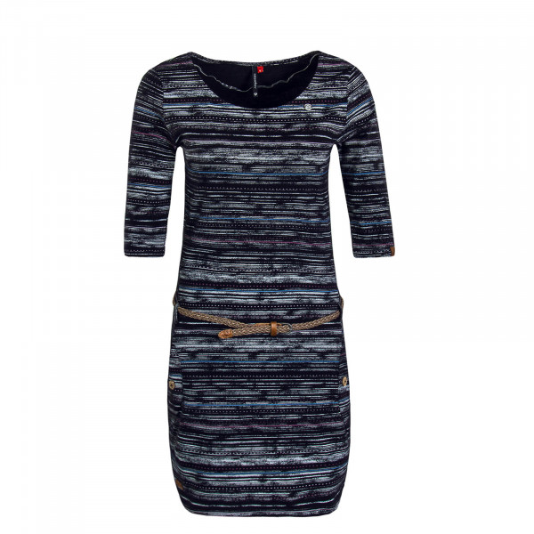 Damen Dress Tanya Print Black