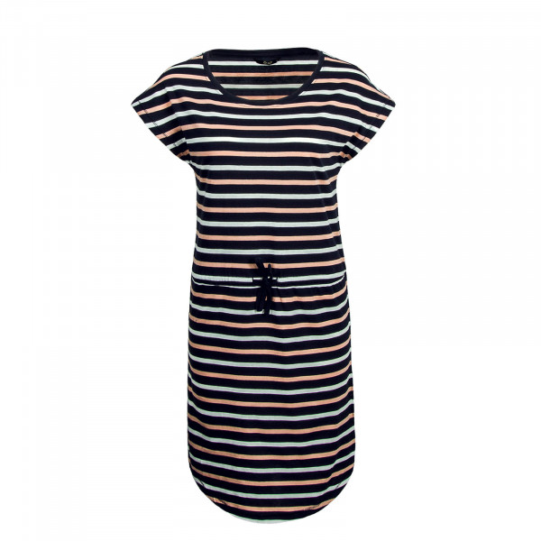 Dress May Navy Rose White Stripe