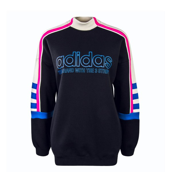 Adidas Wmn Sweat 4192 Black Beige Pink
