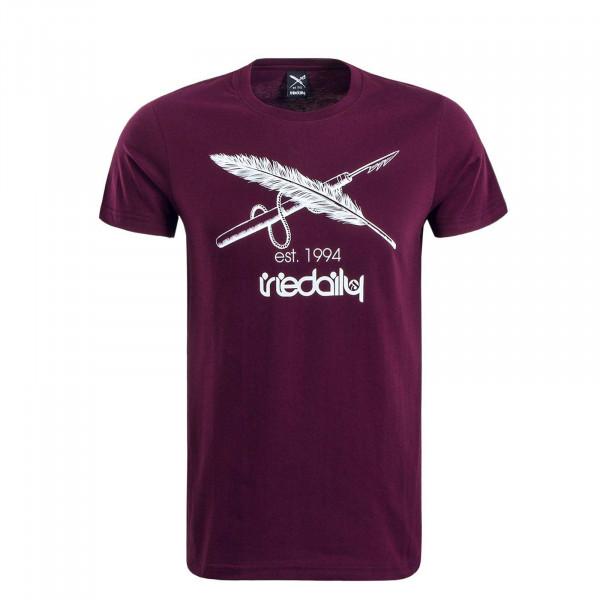 Herren T-Shirt Harpoon Flag Bordeaux
