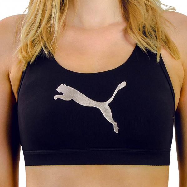 Puma Shape Bralette Forever Logo Black