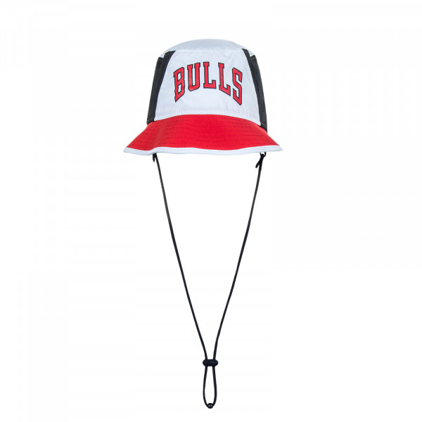 Hut Bulls Bucket2 Wht Blk Red