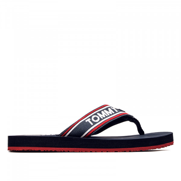 Tommy Slide Stripe Tommy 218 Navy Red