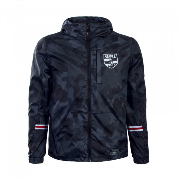 Staple Jkt Pigeon Nylon Camouflage Black