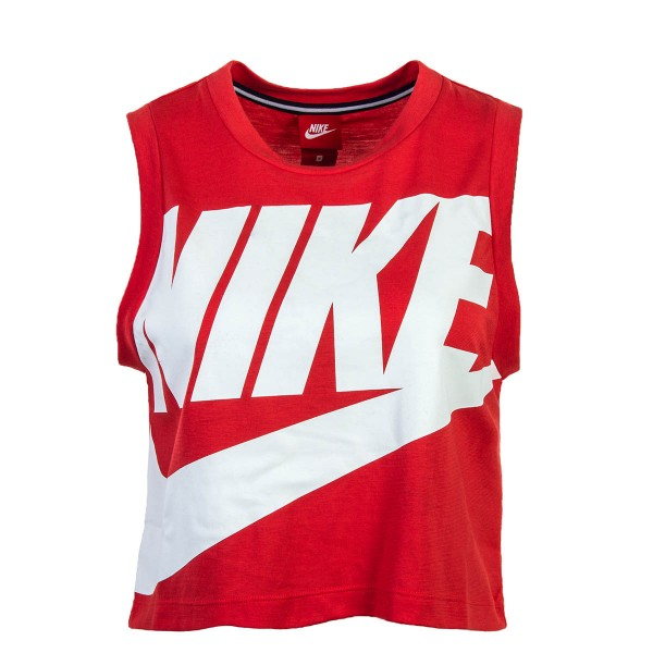 Nike Wmn Top Crop NSW Essntl HBR Red Wht