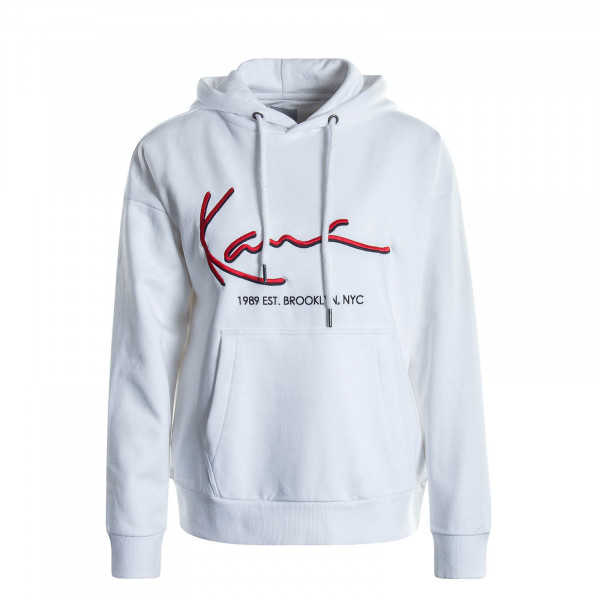 Damen Hoody Signature White Red