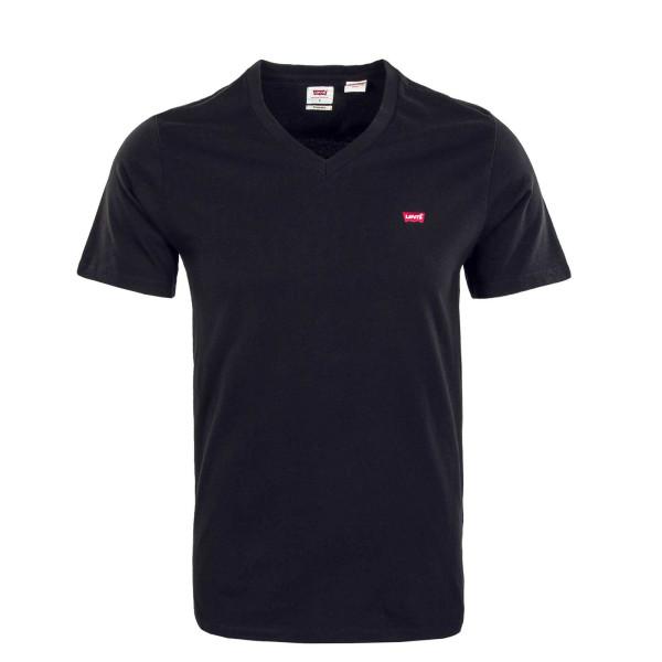 Herren T-Shirt - Origianl V neck Mineral - Black