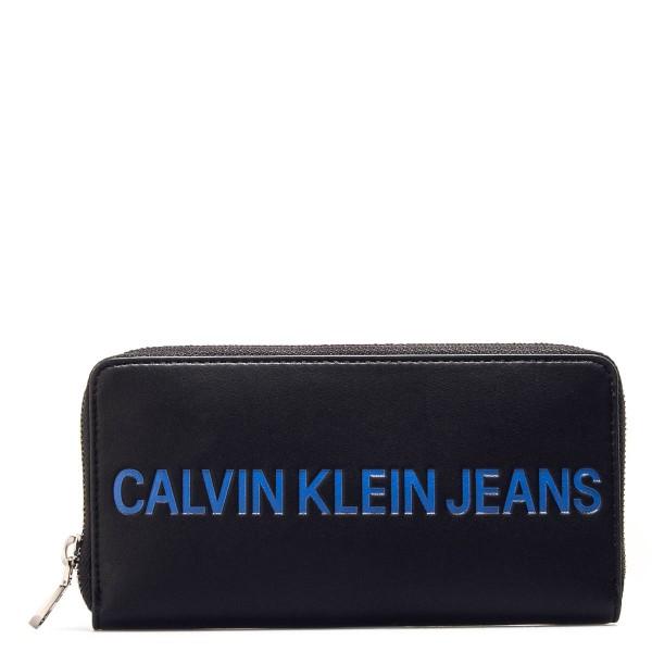 CK Wallet Sculpted Black Blue