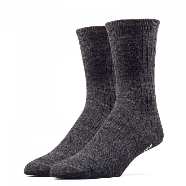 Socken - Nathan Wool Socks - Charcoal Melange