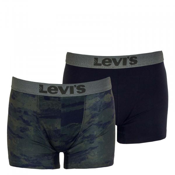 Herren Boxershort 2er-Pack - Levis Ocean Camouflage AOP - Khaki