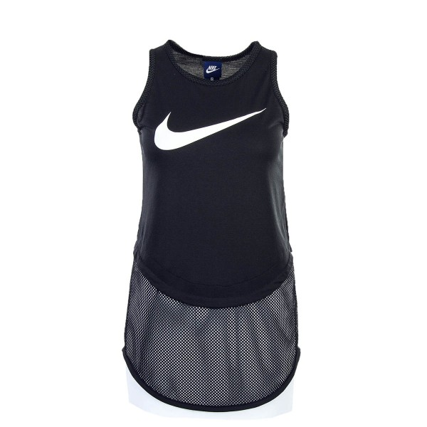 Nike Wmn Top NSW SWSH MSH Black White