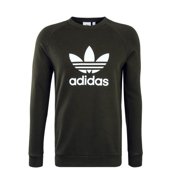 Adidas Sweat Trefoil Crew Olive White