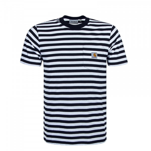 Herren T-Shirt Scotty Stripe Navy White