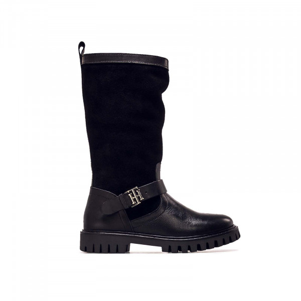 Damen Stiefel - Hardweare Material Mix - Black