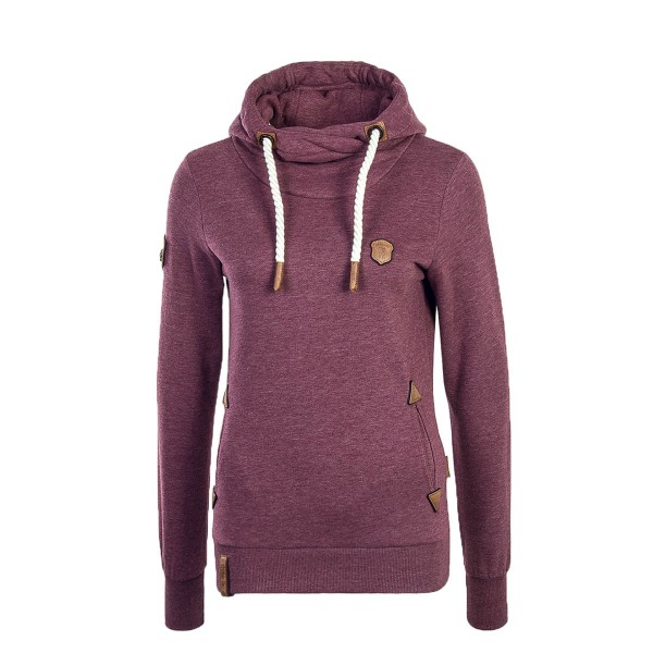 Naketano Wmn Hoody Chasin The Cat Bordeaux