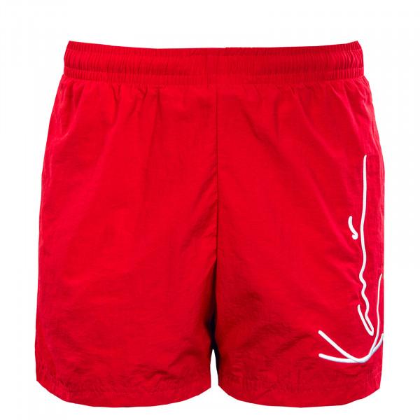 Herren Badeshort - Signature Board Shorts - Red