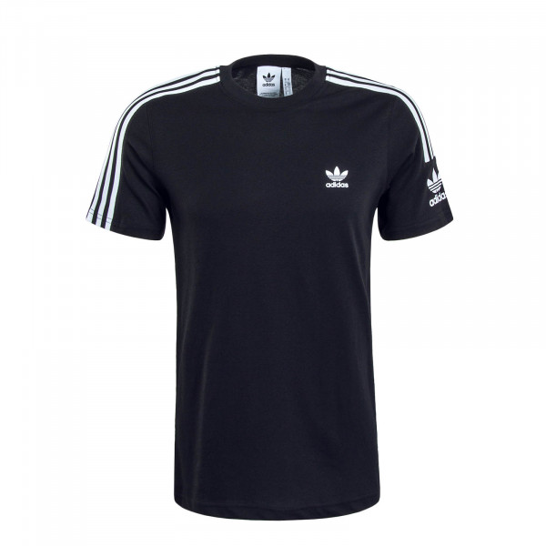Herren T-Shirt Tech Black White