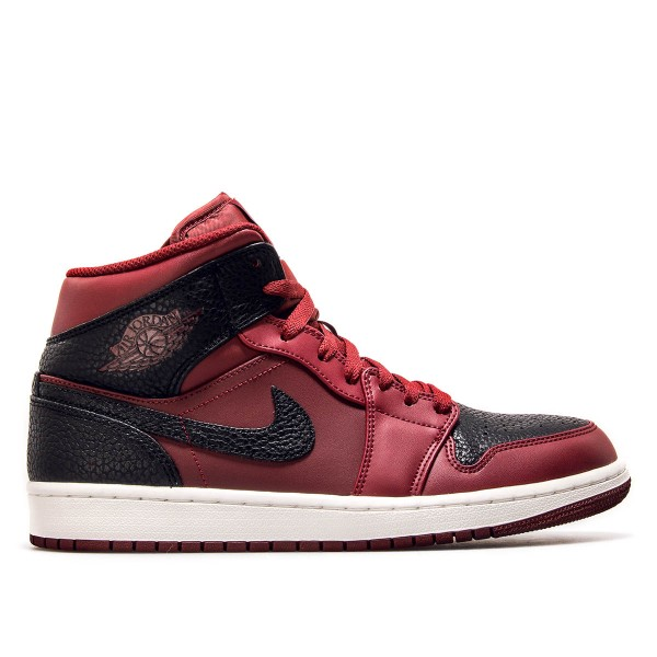 Nike Jordan 1 Mid Team Red Black